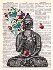 buddha book butterfly