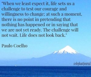 Life does not look back